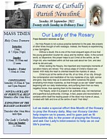 Newsletter 30 September 2012