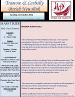 Parish Newsletter 21 October 2012