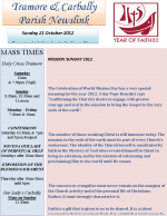 Parish Newsletter 21 October 2012