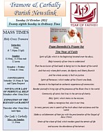 Newsletter 14 October 2012