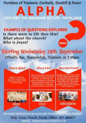 Tramore Parish Alpha Program